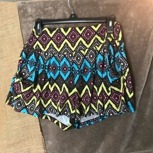 Eye Candy Flowing Fabric Aztec Patterned Shorts